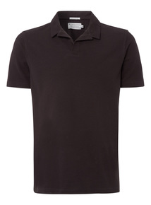 Black Revere Collar Polo