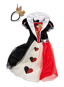Girls Multicoloured Disney Queen of Hearts Costume (3-10 years)