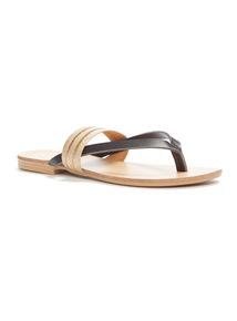 'Made in Italy' Woven Flat Sandals