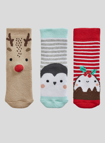 Multicoloured Terry Socks 3 Pack (1 - 24 months)