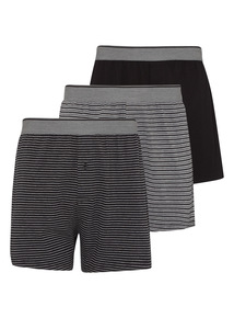 Black Stripe Jersey Boxers 3 Pack