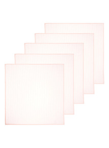 5 Pack Pink Muslin Squares (0-24 months)