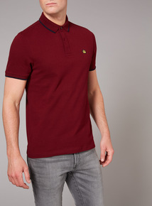 Admiral Burgundy Pique Polo Shirt