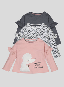 Multi coloured Puppy Pals long sleeve tops 3 Pack (9 Months - 6 Years)