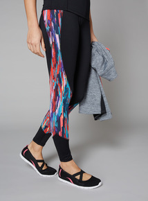 Streak Print Active Leggings