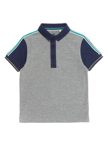 Boys Multicoloured Taped Shoulder Polo Shirt (3 - 12 years)