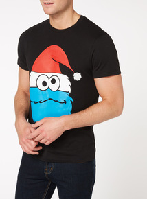 Black Christmas Cookie Monster Tee