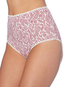 Pink and White Patterned Full Briefs 5 Pack