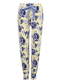 Floral Print Pyjama Joggers