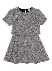 Girls Grey Skater Dress (3-12 years)