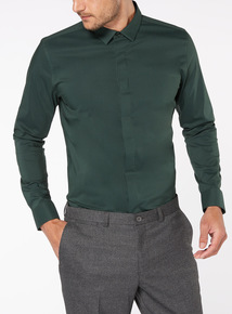 Green Stretch Slim Fit Shirt