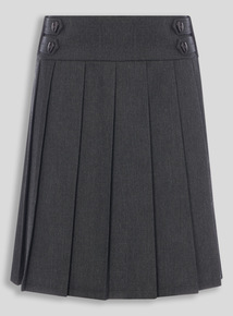 Grey Permanent Pleat Skirt (3-16 years)