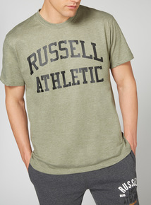 Online Exclusive Russell Athletic Khaki Logo Tee