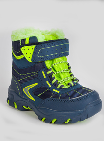 3M Thinsulate Blue & Green Snow Boots