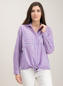 5ed268afc94 Lilac   Pink Stripe Shirt