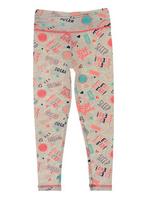 Mix and Match Multicoloured Slogan Pyjama Leggings (3 - 12 years)
