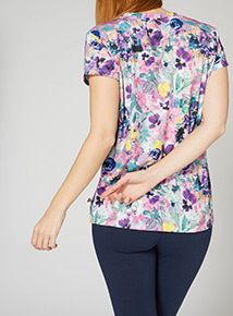 Online Exclusive Russell Athletic Floral Tee