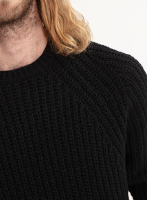 GFW Black Cable Knit Jumper