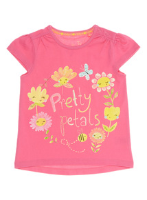 Girls Pink Pretty Petals Tee (0 - 24 months)