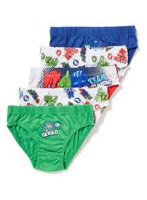 5 Pack Multicoloured PJ Masks Briefs (18 months - 7 years)