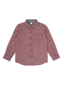 Red Cotton Grindle Shirt (3-14 years)
