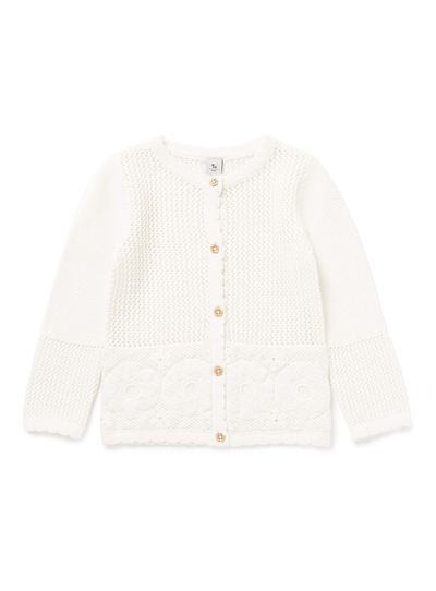 Cream Crochet Cardigan (9 months-6 years)