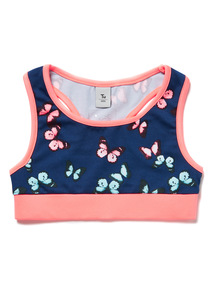 Navy Active Butterfly Print Crop Top (3-14 years)