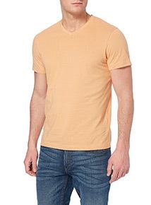 Orange V-neck T-shirt