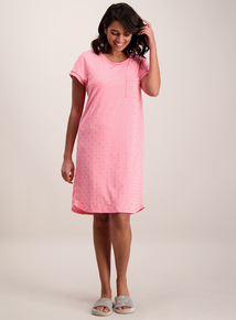 Pink Soft-Touch Heart Nightdress