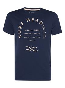 Navy Surf Head Print Tee