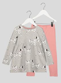 Dalmatian Dress and Matching Leggings Set