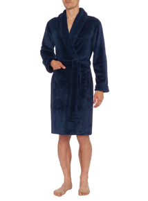 Blue Marl Dressing Gown