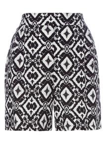 Mono Patterned Drapey Shorts