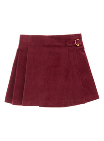 Plum Purple Vel Kilt Skirt (3-14 years)
