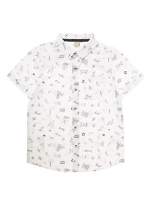 Boys White Skate Shirt (3-12 years)