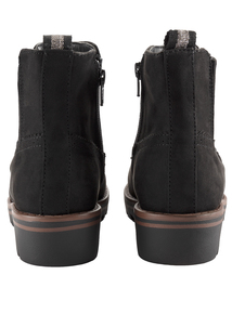 Sole Comfort Black Wedge Ankle Boot