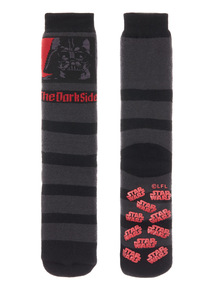 Black Disney Star Wars Darth Vader Slipper Socks