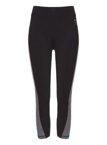 Black Panelled Leggings