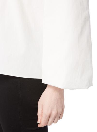White Poplin Balloon Sleeve Top