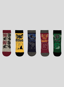 Harry Potter Multicoloured Socks 5 Pack (6 infant-6.5 adult)