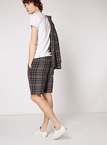 GFW Blue Tartan Shorts