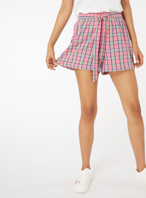 Check Print Shorts