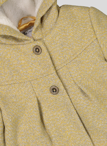 Mustard & Grey Woven Formal Coat (9 months - 6 years)