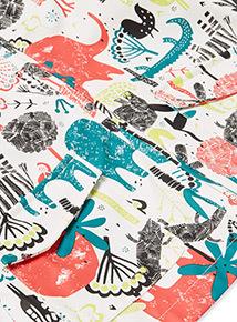 Multicoloured Safari Print Rain Mac (9 months-6 years)