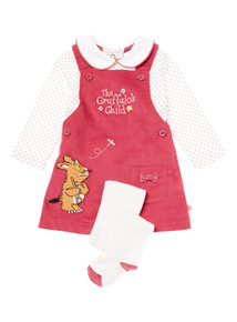 Pink Gruffalo Corduroy Pinny, Bodysuit & Tights Set (1-24 months)