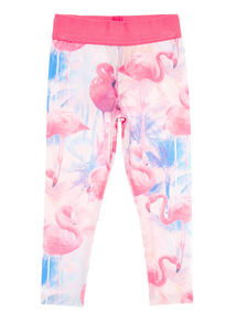 Multicoloured Flamingo Leggings