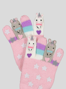 Pink Unicorn Finger Puppet Gloves (2-10 Years)