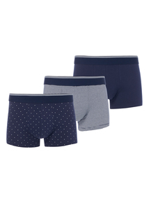 Navy Striped Hipsters 3 Pack