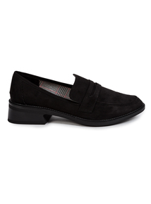 Black Heeled Loafer