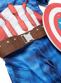 Blue Disney Marvel Avengers Captain America Costume (3-10 years)
